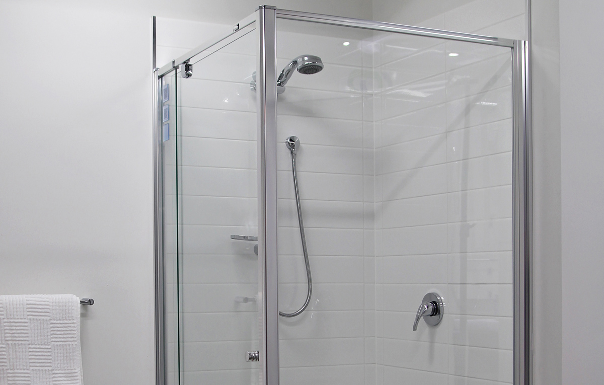 semi framed shower screen