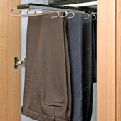 Slide out trouser rack.